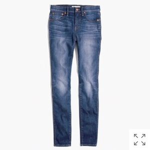 """Madewell 9"""" high-rise skinny jeans in polly wash"""
